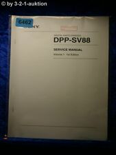 Sony Service Manual DPP SV88 Volume 1 1st Edition Photo Printer (#6462)