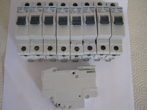 HAGER MT 132 B32 32 AMP 450132 6KA SINGLE POLE MCB CIRCUIT BREAKER.