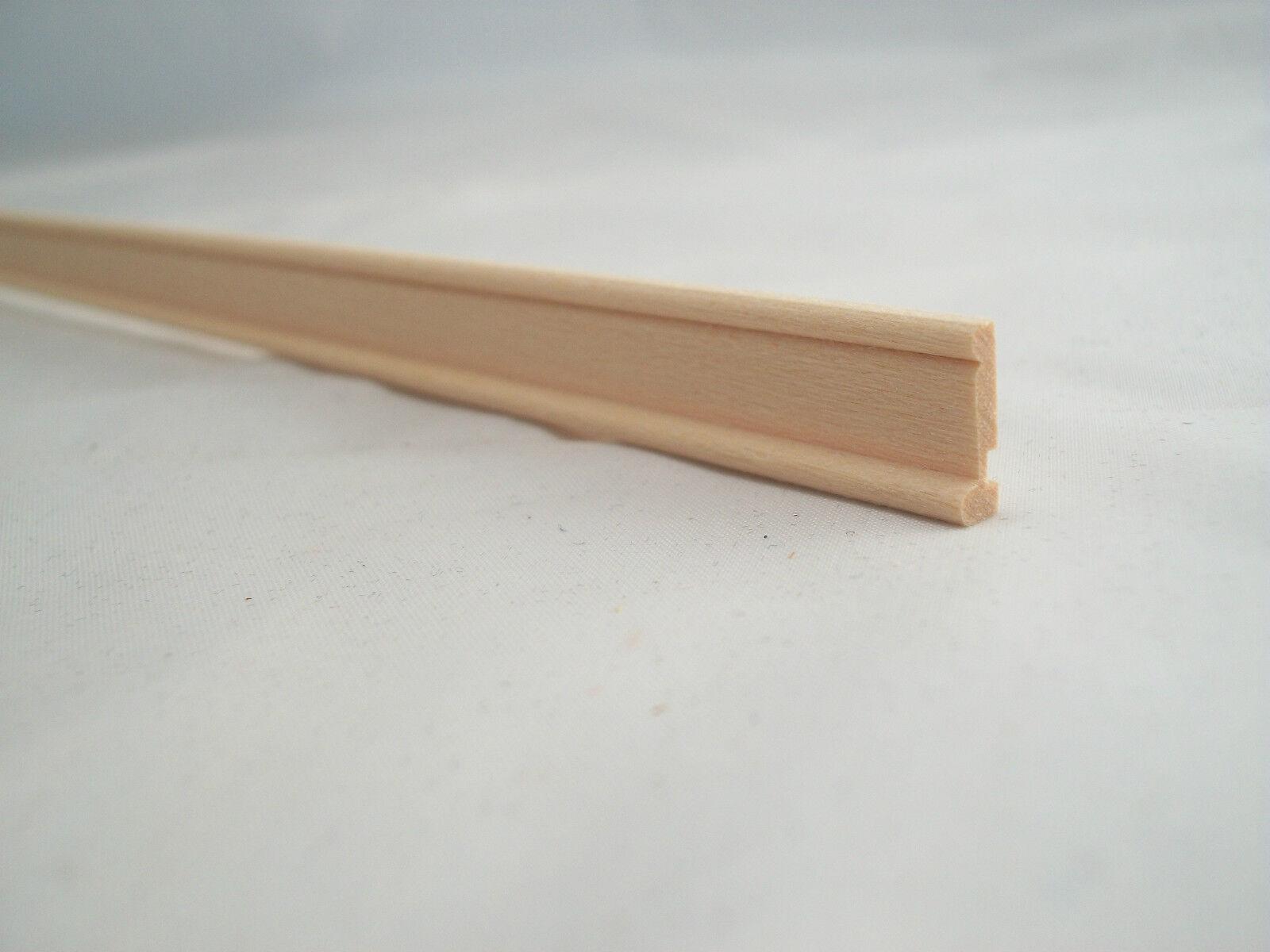 "Roof Ridge Cap 36/"" long dollhouse trim molding 3//4/""wide 1pc 1//12 scale basswood"