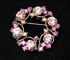 Vintage flower Style Brooches Silver /pink +rose+ab  high-quality Bouquet #ST-9