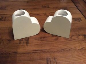 Pair of Heart Shaped Tea light holders - <span itemprop=availableAtOrFrom>Letchworth, United Kingdom</span> - Pair of Heart Shaped Tea light holders - Letchworth, United Kingdom