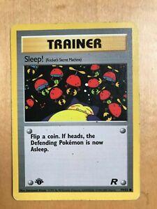 Pokemon Cards: Team Rocket 1st Edition Common: Sleep! 79/82