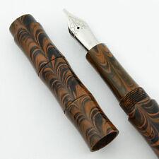 Ranga Ebonite Slim Bamboo Fountain Pen -  Smooth Brown Ripple, JoWo Nib, C/C