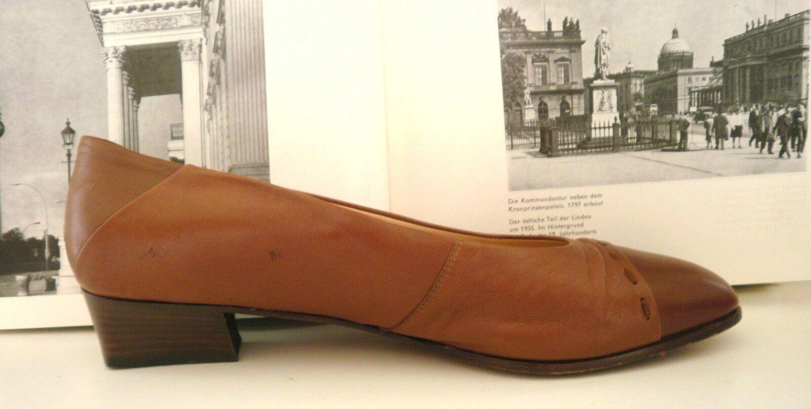 Zapatos de mujer baratos zapatos de mujer Descuento por tiempo limitado Damen Pumps Loafer RENÉ  TRUE VINTAGE Fußbett braun brown  7 Halbschuh Ballerina