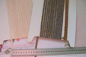 Metallic-Threaded-BRAID-7-8mm-Wide-Mixed-Lengths-3-Colour-Combo-Choice-LL1