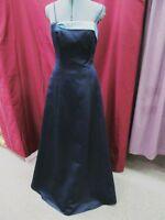Size 8 Jordan Navy Blue Long Evening Formal Bridesmaid Prom Dress C-1-4