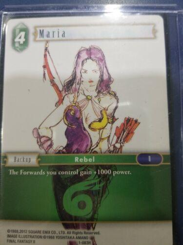 Free Shipping W// Toploader 1-083H Maria Final Fantasy TCG