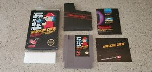 Wrecking-Crew-Nintendo-NES-Video-Game-BLACK-BOX-Manual-Poster-Complete-CIB-Lot