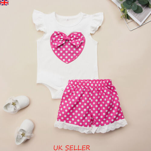 Newborn Baby Girls Sleeveless Romper Tops Jumpsuit Shorts Pants Outfits Clothes