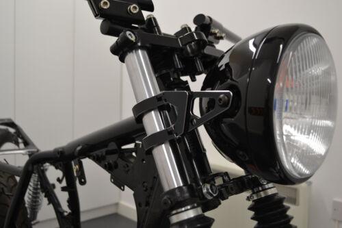 48-49mm PAIR Motorbike Headlight Brackets High Quality CNC Machined