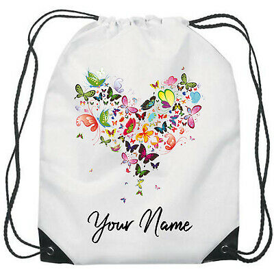 Personalised Heart School//PE//Gym//Drawstring Bag