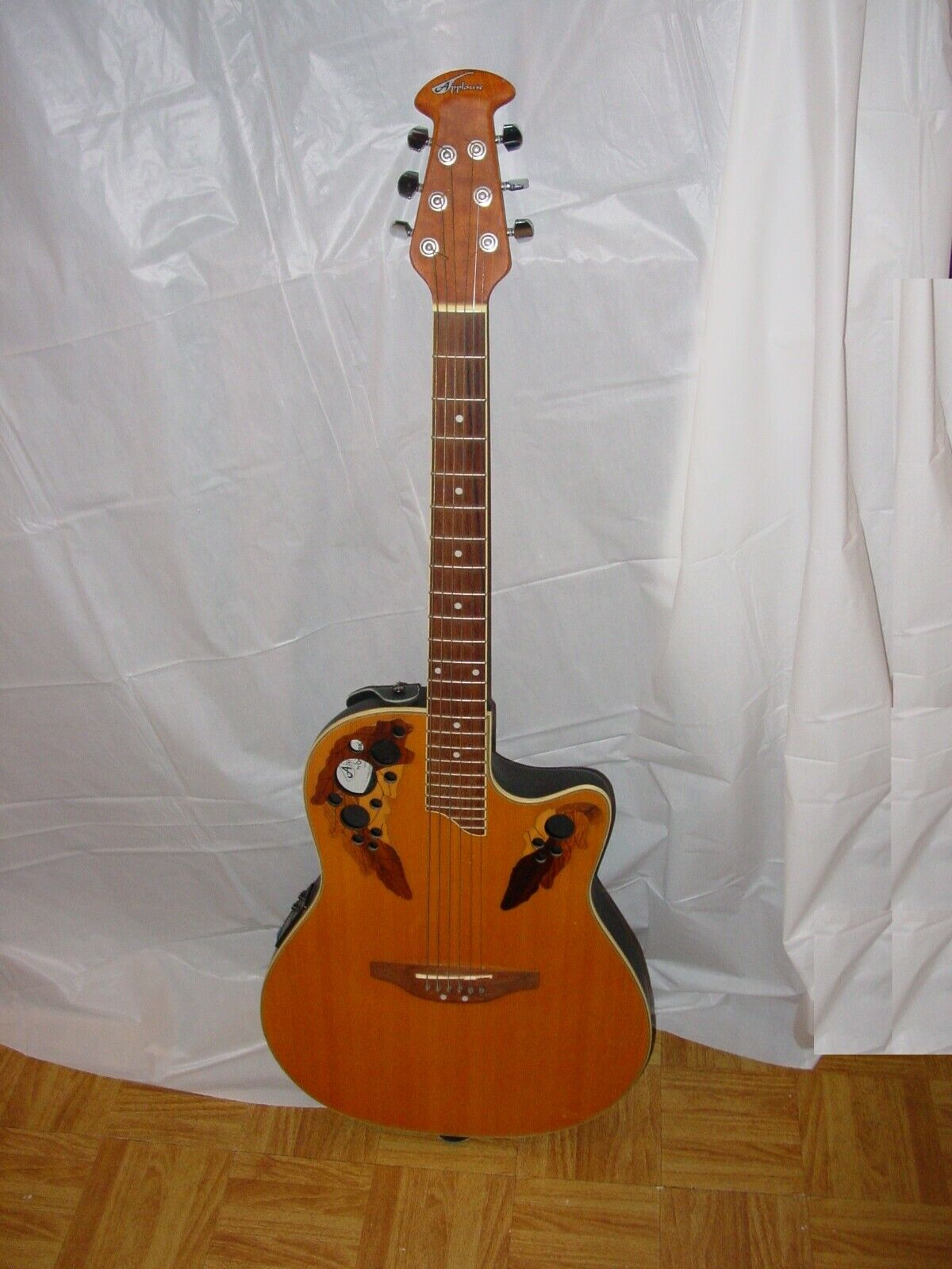 Applause Ovation Acoustic  Electric Guitar AE-48 Elite Kaman w Strap