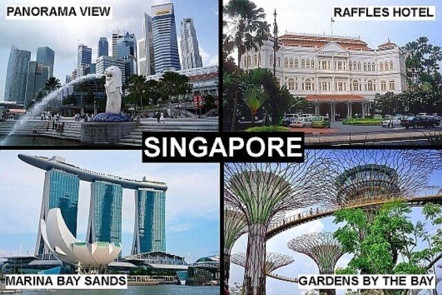 SOUVENIR FRIDGE MAGNET of SINGAPORE