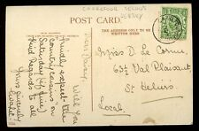 Jersey 1914 Gorey PPC CARREFOUR SELOUS postmark local use on GV ½d