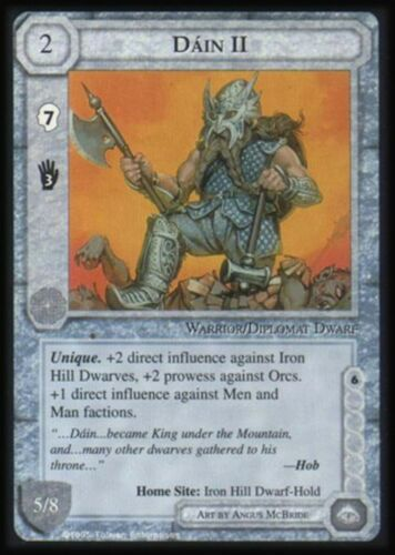 MECCG Middle-earth Dain II The Wizards Limited TWL Middle earth LOTR MINT