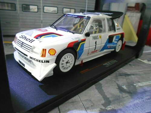 PEUGEOT 205 T16 EVO Rallye Gr.B Monte Carlo 1986 #1 Salonen Shell IXO NEU 1:18