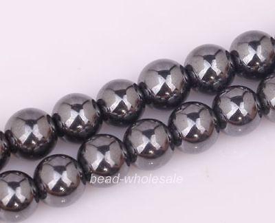 Wholesale Black Color Magnetic Hematite Ball Findings Spacer Beads for Bracelet
