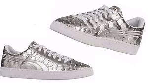ff72c1def15bc5 Image is loading Puma-Men-039-s-Basket-Classic-Metallic-Silver-