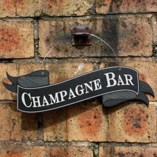 suspendus bar sign outdoor pub sign Champagne bar défiler en forme de signe jardin signe