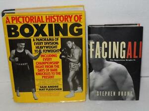 Lot-2-H-C-Books-Facing-Ali-Stephen-Brunt-Pictorial-History-of-Boxing-Muhammad