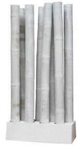 Kmh raumteiler paravent sichtschutz bambus bambusm bel trennwand deko weiss ebay - Trennwand bambus ...