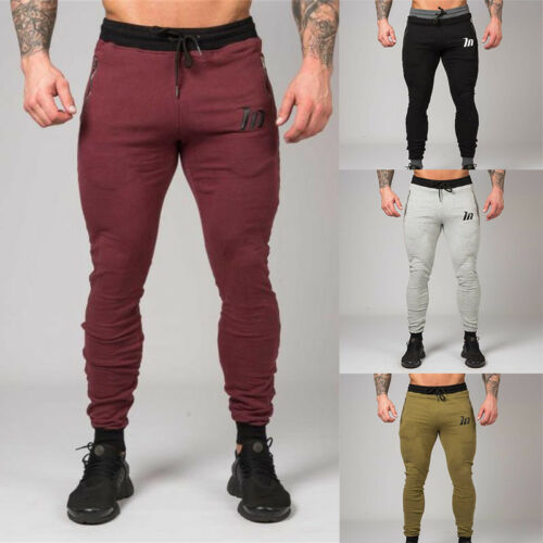 New Mens Casual Gym Tracksuit Bottoms Trousers Joggers Sweat Pants Vogue C0331