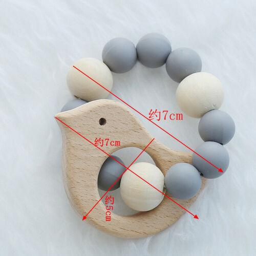 Greifling Holz Beißring Vogel Tier Kinder Rassel Motorik Baby Spielzeug Geschenk