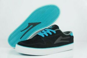 LAKAI-Carroll-5-black-cyan-suede-Skate-BMX-MX-NEUWARE-Gr-42-44-5-SALE