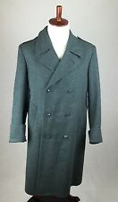 Vintage SWISS ARMY Military Long Trench Medical Coat Wool Men's XL 48BB GE LM 89