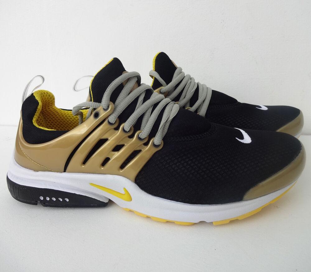 Nike Air Presto Or/Noir De Sport Hommes Chaussures Shox Baskets-Tailles 7 To 11-