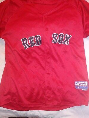 Fanartikel Sport Freundschaftlich Dustin Pedroia #15 Boston Red Sox Majestic Trikot Rot Mlb Erwachsene Sz 54