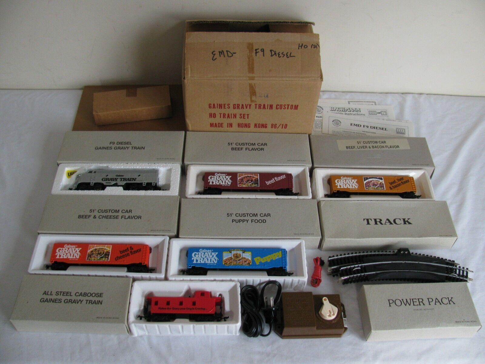Vintage Bachmann HO Scale Gaines Gravy Train Promotion Set NIB