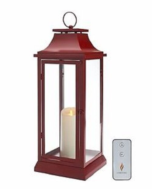 Luminara 19  RED HERITAGE Indoor Outdoor Flameless Candle Lantern w  Remote