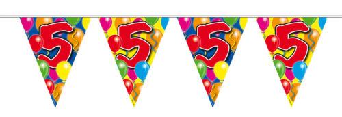 Fanion Chaîne 10 m Nombre 5 ans Anniversaire Déco fête guirlande