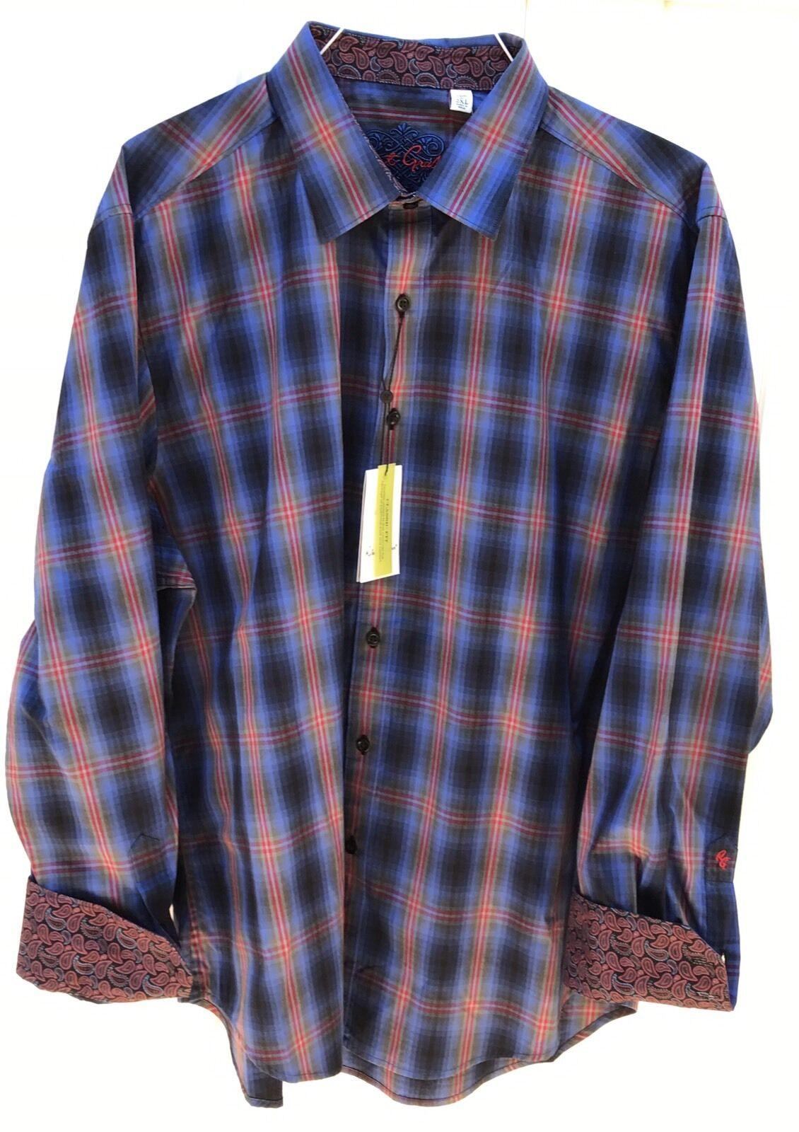 Men's Robert Graham Boomer Multicolor Casual Shirt,Size 2XL.