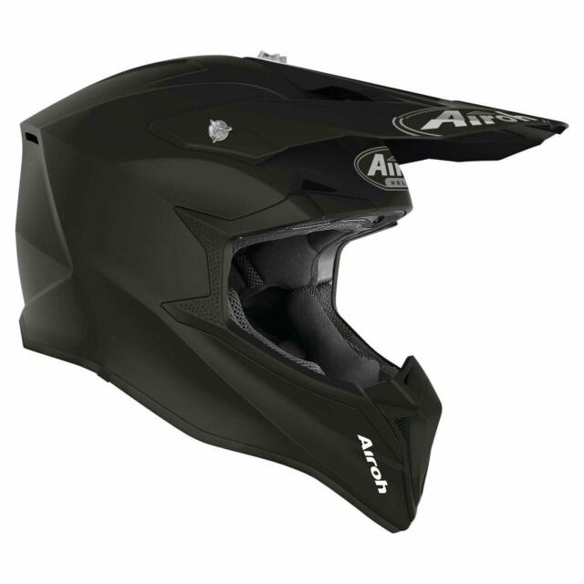 AIROH AVIATOR 2.2 REFLEX BLACK  MOTOCROSS HELMET GOLD STAMPED APPROVED