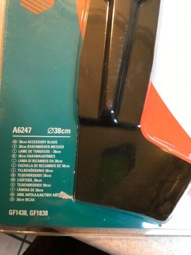 GF1438 GF1838 GENUINE BLACK /& DECKER 38cm MOWER BLADE A6247