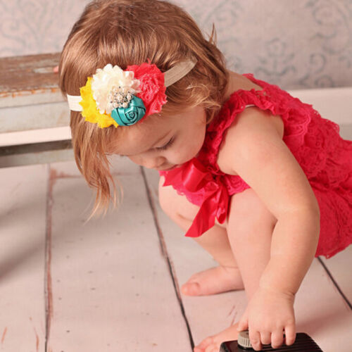 Kid Girl Baby Headband Toddler Lace Bow Flower Hair Band Accessories Headwear PL