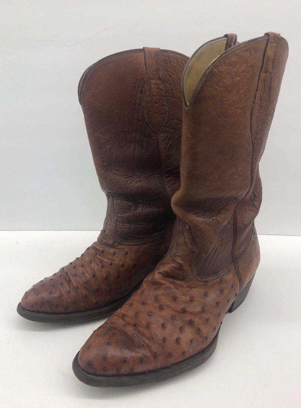 Gallegos Mendez Santa Fe Nuevo México Avestruz Pluma botas Hombre de ancho