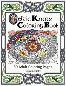 Celtic Knots Adult Coloring Book 30 Pages Mandala Lozs Art Thick ...