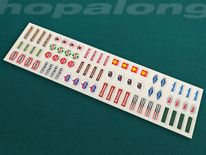Scalextric/Slo<wbr/>t Car/Code 3 Small Scale Sponsor Sticker Decals x72