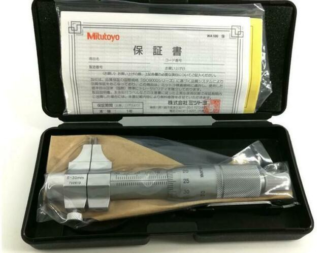 New Mitutoyo 145-185 Jaw Inside Micrometer Caliper 0.01mm Resolution