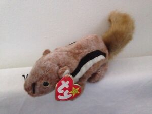 fb6e5374cd4 Image is loading TY-Beanie-Babies-Chipper-the-Chipmunk
