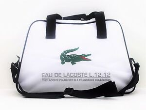 b7c8a6074e LACOSTE PARFUMS L.12.12 WHITE MENS SPORT  GYM BAG  NEW 730870152577 ...
