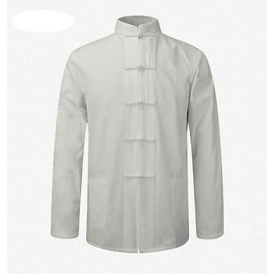 Men's Cotton Traditional Chinese Tang Suit Coat clothing Kung Fu Tai Chi Uniform