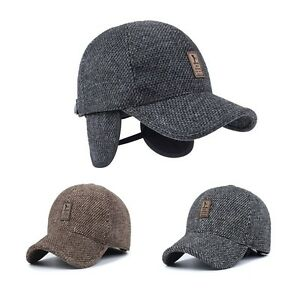 Men s Winter Hat Baseball Hat with Ear Flaps Warm Cotton  f55026a938f