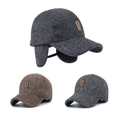 Men/'s Winter Hat Baseball Hat  with Ear Flaps Warm Cotton
