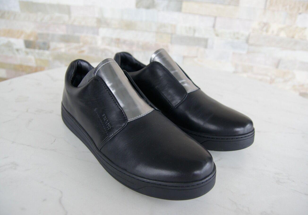 PRADA Gr Gr PRADA 38,5 Slipper Mokassins Slip-Ons Halbschuhe Schuhe schwarz NEU 646003