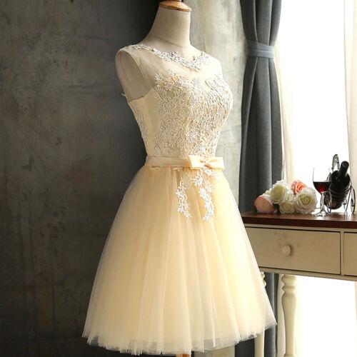 Cerimonia D0663 Donna Romantico Abito Vestito Tulle Art Elegante Pizzo Crema E vwEOF