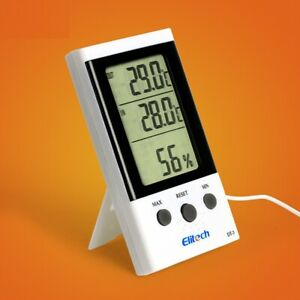2 PCS Thermometer Elitech DT-3 Digital LCD Temperature Humidity Hygrometer